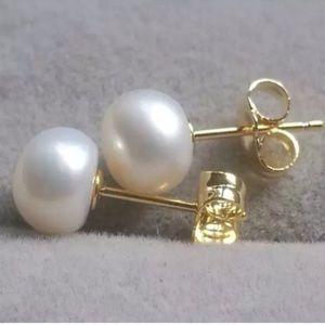 14K Gold Akoya Pearl Stud Earrings